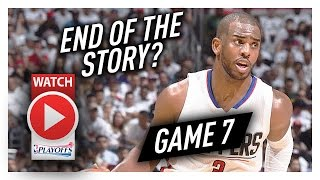 Chris Paul Full Game 7 Highlights vs Jazz 2017 Playoffs - 13 Pts, 9 Ast, Last Game as a Clipper?