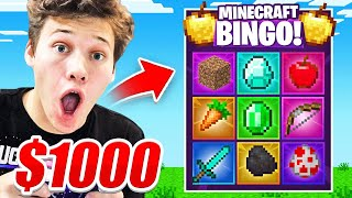 First To Finish Minecraft *BINGO* Wins $1,000