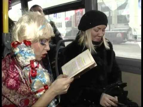В городе в рейс вышел святочный автобус