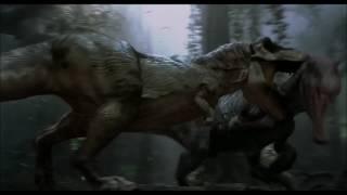 Jurassic Park 3 HD Spinosaurus vs Tyrannosaurus Rex