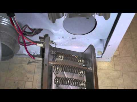 Repair your dryer Replace a dryer heating element dryer