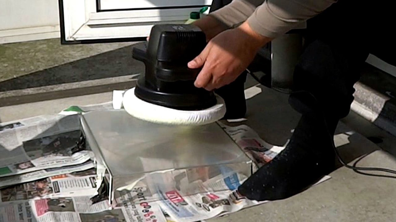 How to restore scratchy turntable dustcovers with a polishing machine