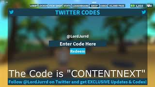 New Code on Roblox island royale