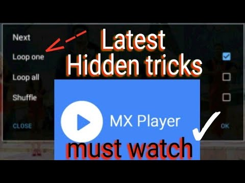 MX Player repeat or loop favorite video/mp3 || mx player latest tricks and technics|| repeat video |