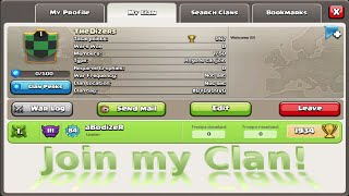 Clash of Clans | Join my Clan Everybody is Welcome!
