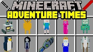 Minecraft ADVENTURE TIME MOD! | MEET FIN, JAKE, & PRINCESS BUBBLEGUM! | Modded Mini-Game