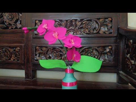DIY | paper orchid flower | cara membuat anggrek dari kertas origami