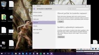 Windows 10 - Obnovení systému i bez ztráty dat