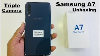 Samsung Galaxy A7 Unboxing  Triple Camera BEAUTY