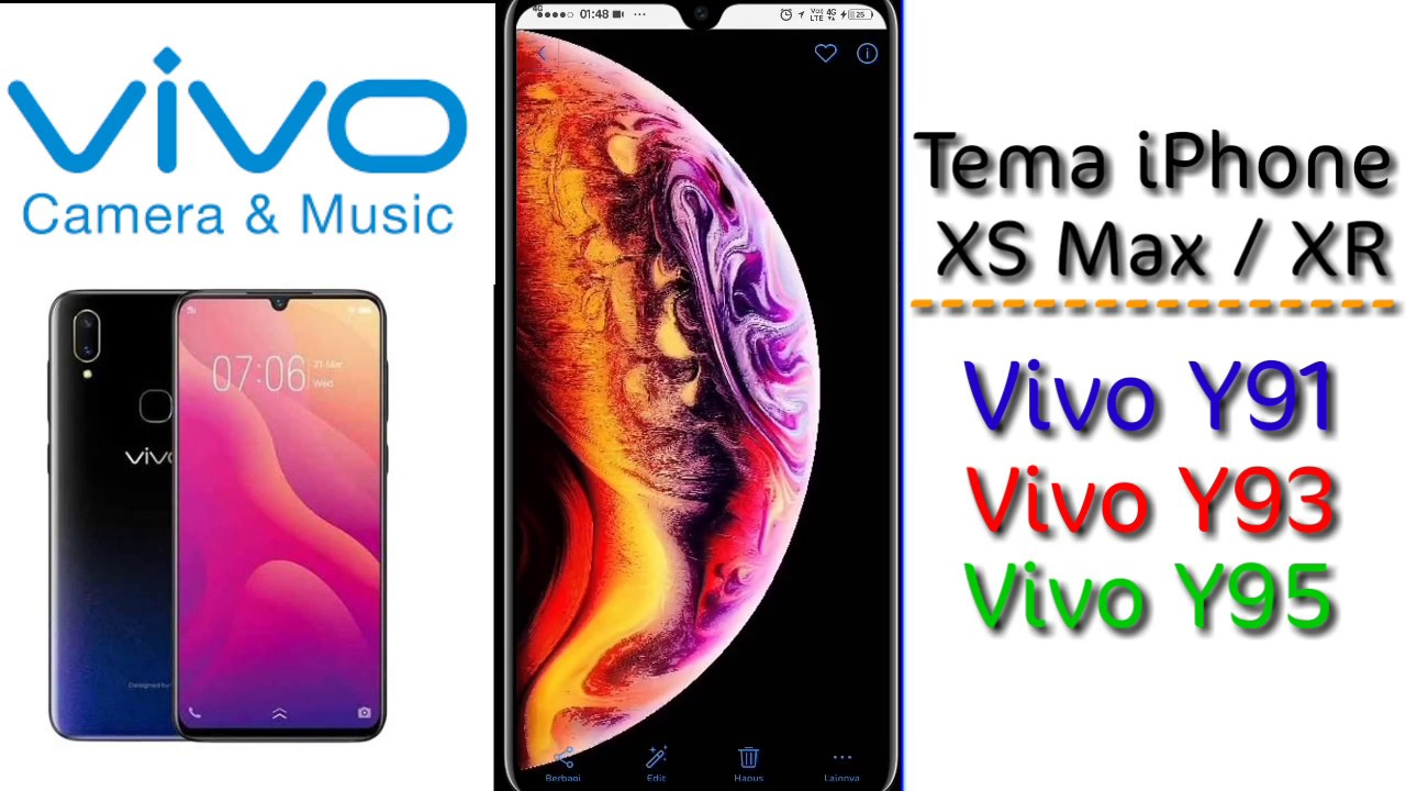 Tema iPhone Xs Max VIVO Y95, Y93, Y91
