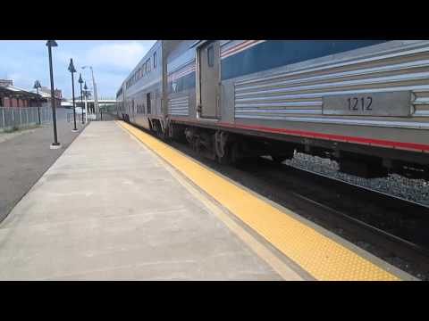 08/27/14 7 hour late Amtrak 30 arrives at Alliance OH