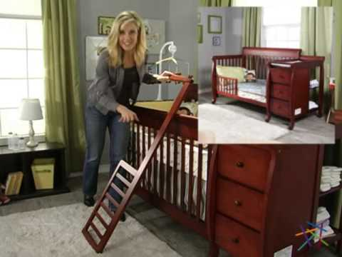 DaVinci Kalani 4 in 1 Convertible Crib and Changer Combo - Cherry - Product Review Video