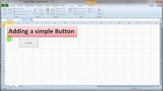 Adding a Simple VBA Button to Excel