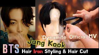 BTS 'Dynamite' JUNG KOOK Haircut & Hair Volume Iron