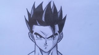 How To Draw Adult Gohan