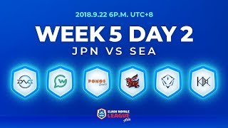 Video Clash Royale League Asia Season2 - Week 5 Day 2 download MP3, 3GP, MP4, WEBM, AVI, FLV September 2018