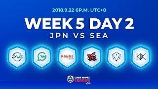 Clash Royale League Asia Season2 - Week 5 Day 2