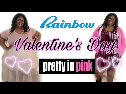 plus-size-try-on-haul-featuring-rainbow- -valentine's-day-2020- -pretty-in-pink