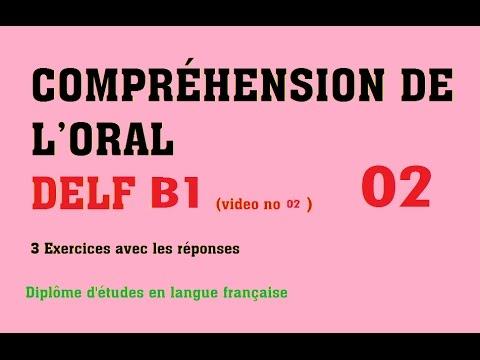 DELF B1 - Compréhension De L'oral (no 2)  French Listening DELF B1 Exercises