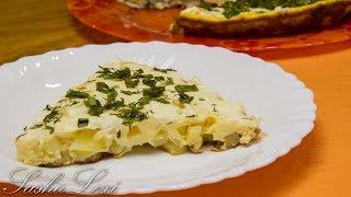 Вкуснейший омлет с картофелем и сливочным сыром! Рецепт! Быстро, сытно и Оочень вкусно!