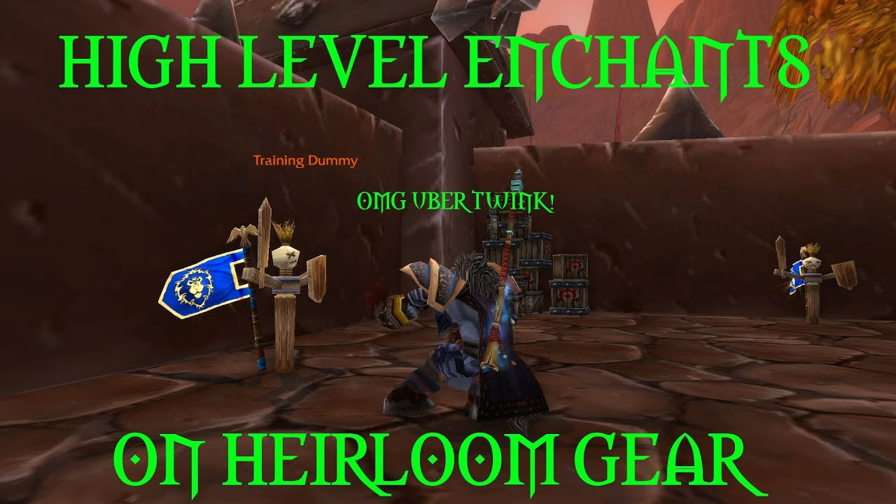 Wow Patch 5 4 Pandarian Enchants On Heirlooms Youtube