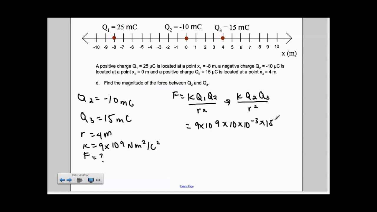 how to find electric charge with force in ppa