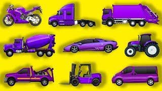 Изучаем виды транспорта. Мультик про машинки для детей: грузовик, трактор, мусоровоз, эвакуатор