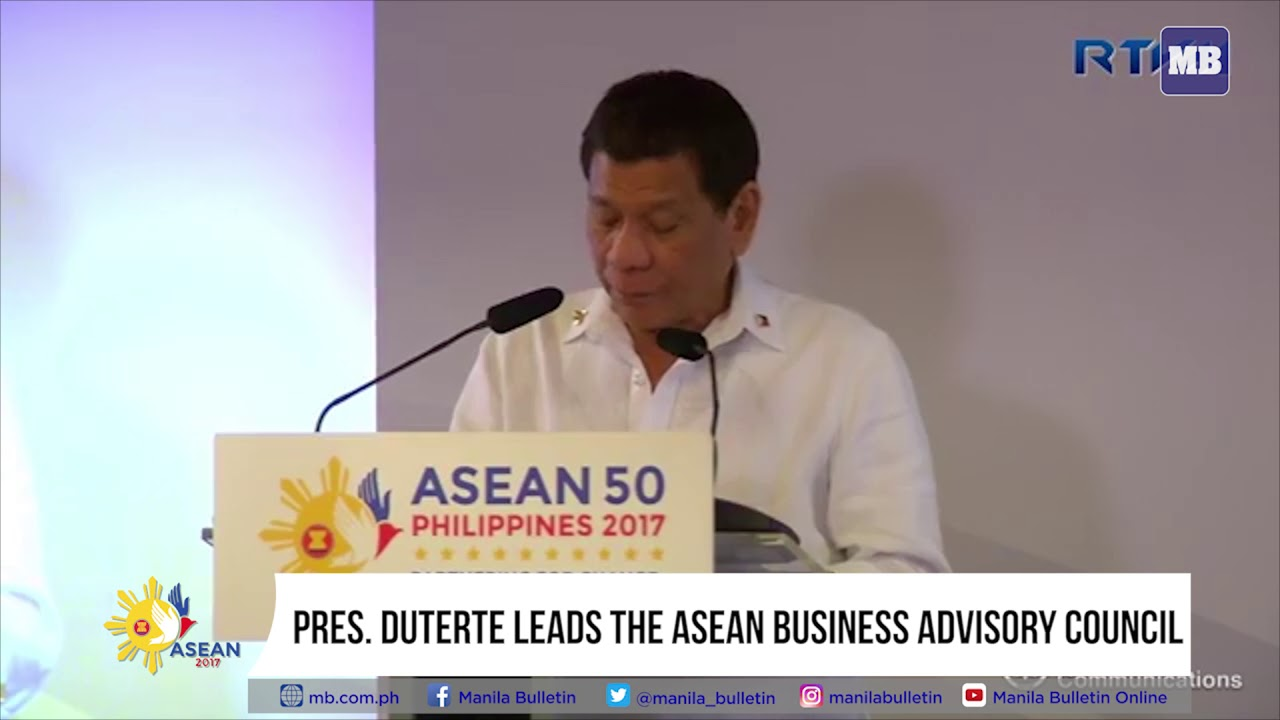 Pres  Duterte leads the ASEAN Business Advisory Council