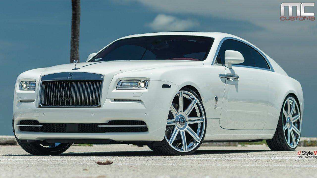 Rolls royce wraith 2014 black mc customs rollsroyce wraith 183 vellano wheels youtube sciox Images