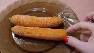 Готовим морковь в микроволновке за 6 минут ))