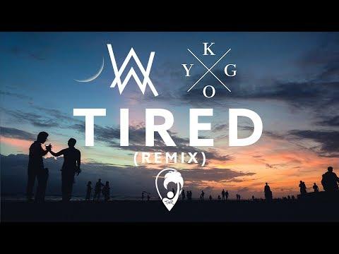 Alan Walker ft. Gavin James - Tired (Kygo Remix) [Lyric Video]