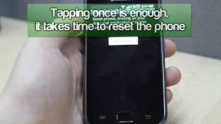 How to Master Reset Samsung Galaxy S i9000
