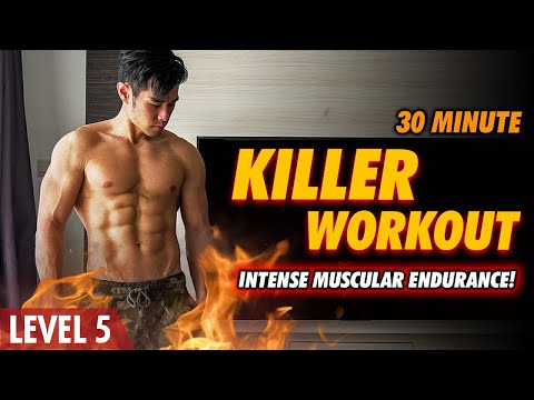 [Level 5!] 30 Minute Killer Bodyweight Workout!