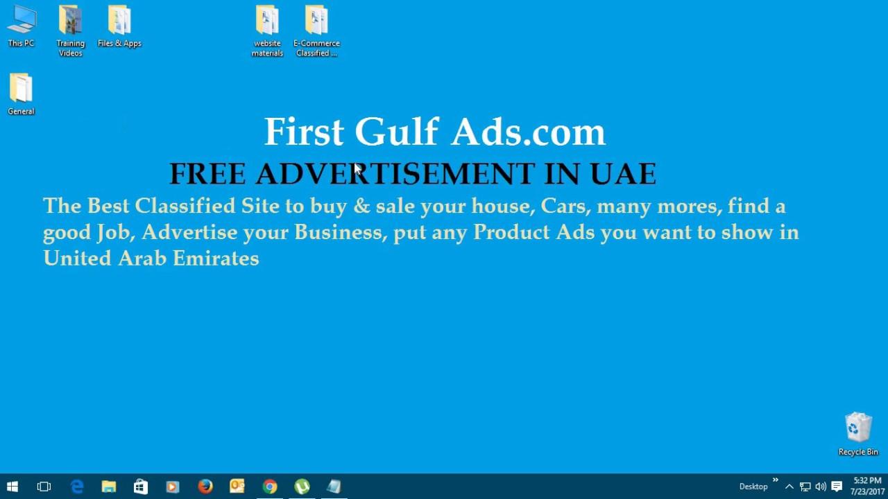 First Gulf Ads Free classified site in UAE