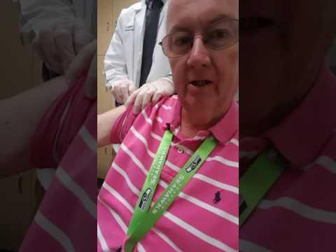 Mr. Marty gets his FLU SHOT
