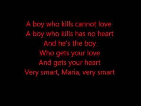 Glee - A Boy Like That (West Side Story) - Lyrics