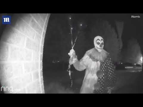 This Creepy Clown Was Captured On A Doorstep Video