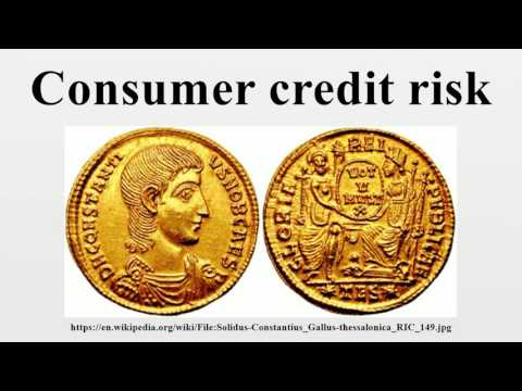 Consumer credit risk