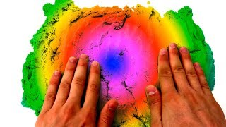 Rainbow Kinetic Sand Magic Video With Mad Mattr Learn Colors Video For Kids Nursery Rhymes
