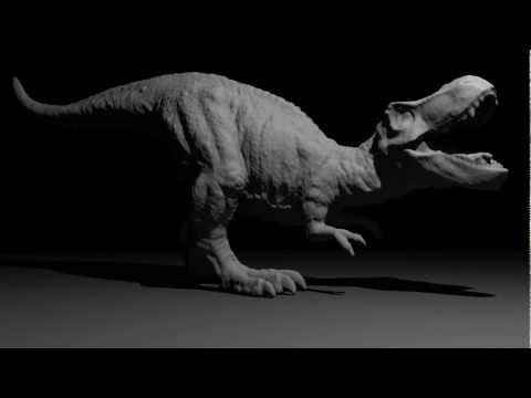 3D Scan, Model Dinosaur, Detail 360 degree scan