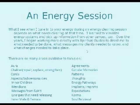 Energy Clearing Session Excerpt