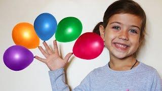 Эмилюша и  пупс Реборн Лиза  выпускают воздушные шары в окно