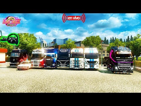 Euro Truck Simulator 2 Multiplayer--Online Convoy Ruta Del baneo Camion Iveco [1.27] HD