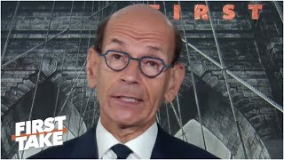 Paul Finebaum on Notre Dame's outbreak, Alabama's expectations & LSU losing | First Take