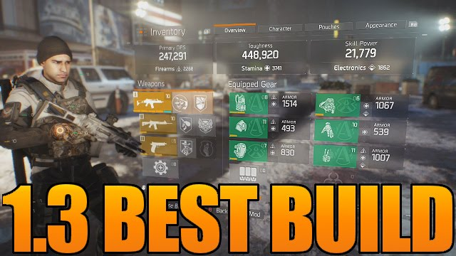 The Division Best Build For The Dark Zone Update 1 3 New Gear Sets Underground Dlc Youtube