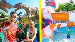 100% FUN au PARC D'ATTRACTIONS AQUATIQUES ZOOMARINE ! - Dinosaures & Jurassic River
