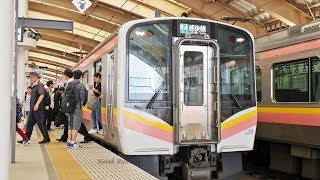 【新潟駅】 発車メロディ+越後線 E129系発車  / JR東日本