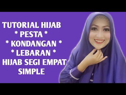 Tutorial Hijab Pesta Simple Dan Cantik