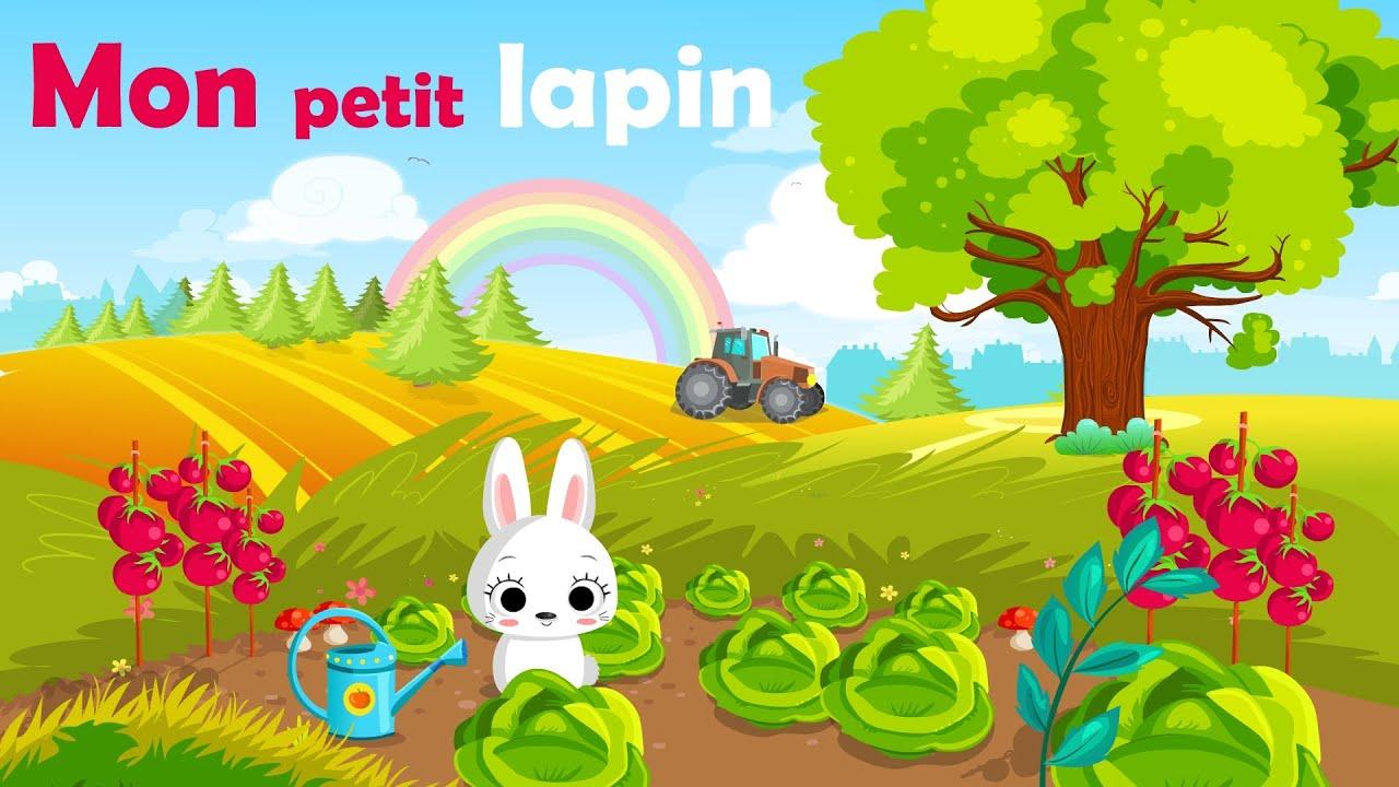 Mon petit lapin comptine gestes avec paroles youtube - Je campe dans mon jardin ...