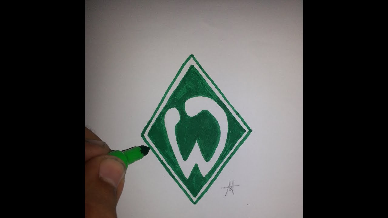 how to draw the logo of werder bremen  youtube